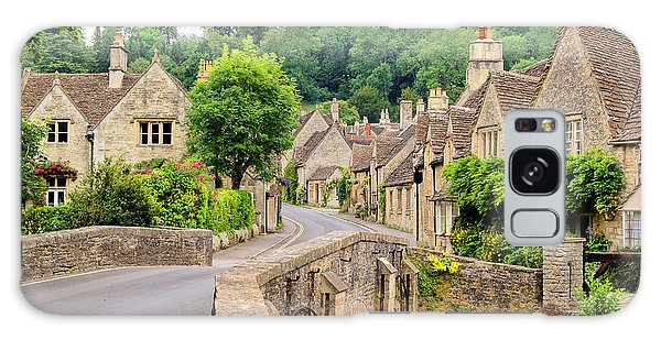 English Countryside Galaxy Case - Picturesque Cotswold Village Of Castle by Jenifoto