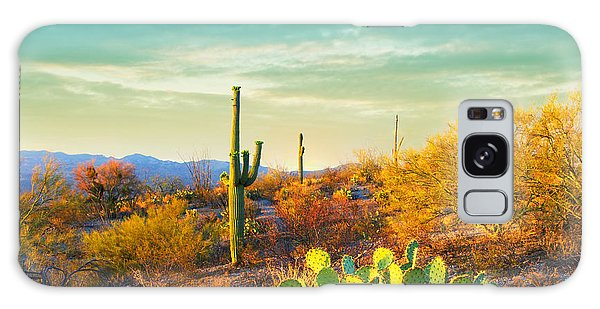 Southwest Usa Galaxy Case - Picturesque, Serene Sunset In Saguaro by Katrina Leigh