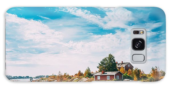 Cottage Galaxy Case - Pier, Harbour And Quay In Island Near by Grisha Bruev