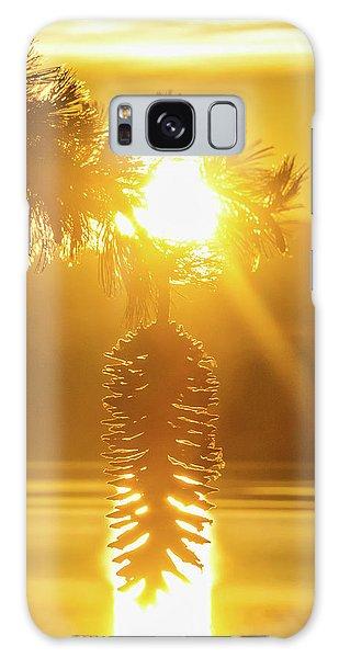 Pine Cone Fire Galaxy Case