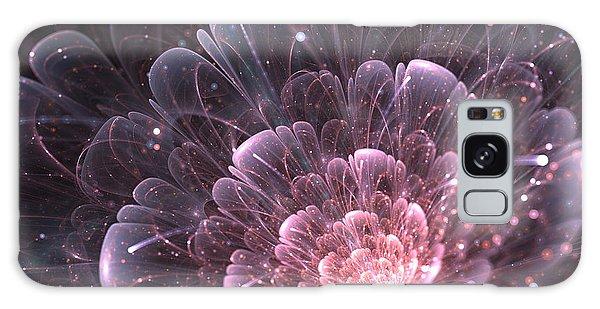 Fractal Design Galaxy Case - Pink Abstract Flower With Sparkles On by Anikakodydkova