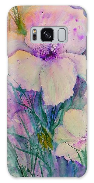 Spring Flower Medley Pink And Purple Galaxy Case