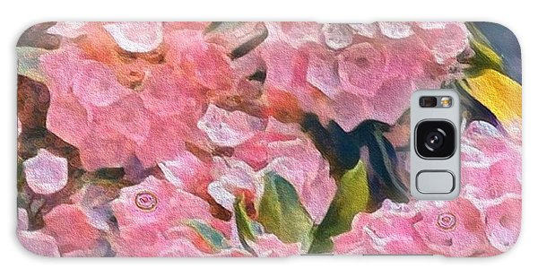 Pink Bougainvillea Galaxy Case
