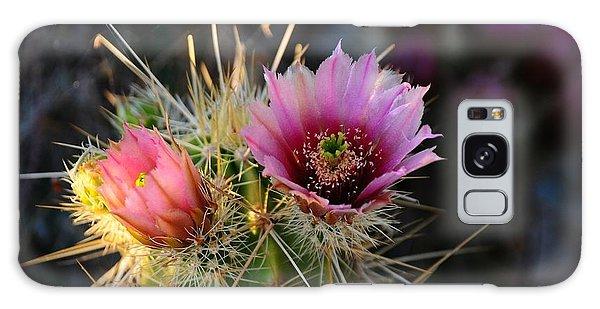 Pink Cactus Flower Galaxy Case