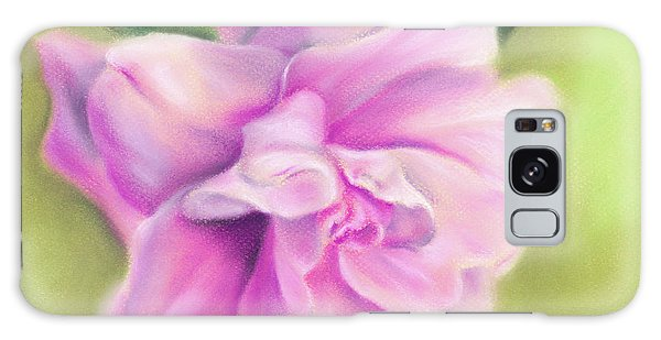 Pink Camellia With Leaves Galaxy Case