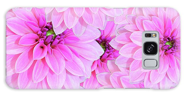 Pink Dahlia Flower Design Galaxy Case