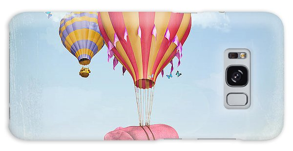 Fairy Galaxy Case - Pink Elephant In The Sky With Balloons by Ganna Demchenko
