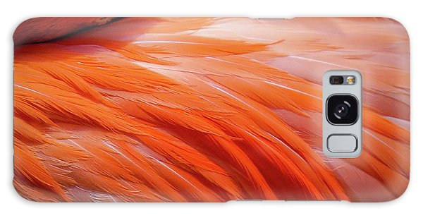 Pink Feathers Galaxy Case