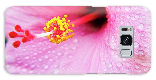 Hibiscus Galaxy Case - Pink Hibiscus Drops by Sean Davey