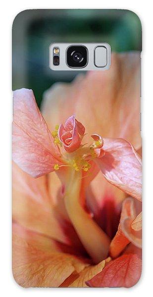 Pink Hibiscus Flower Galaxy Case