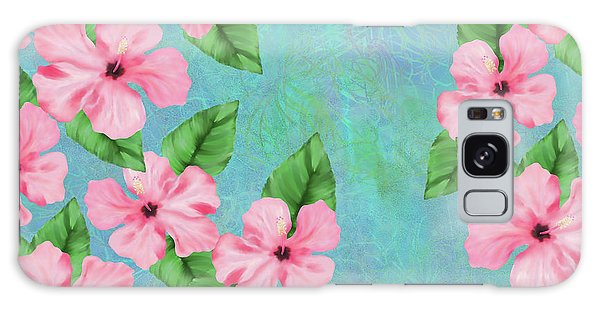 Pink Hibiscus Tropical Floral Print Galaxy Case