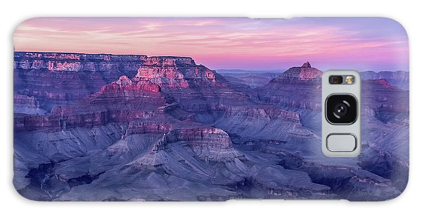 Pink Hues Over The Grand Canyon Galaxy Case
