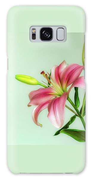 Pink Lily Galaxy Case