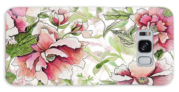 Pink Peony Blossoms Galaxy Case