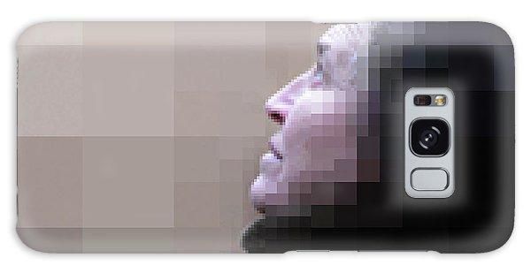 Pixel Portrait Galaxy Case