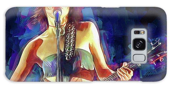 Folk Singer Galaxy Case - Pj Harvey by Mal Bray