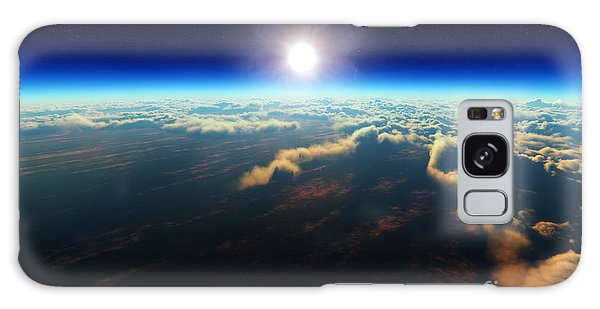 Glow Galaxy Case - Planet Earth Sunrise Over Cloudy Ocean by Johan Swanepoel
