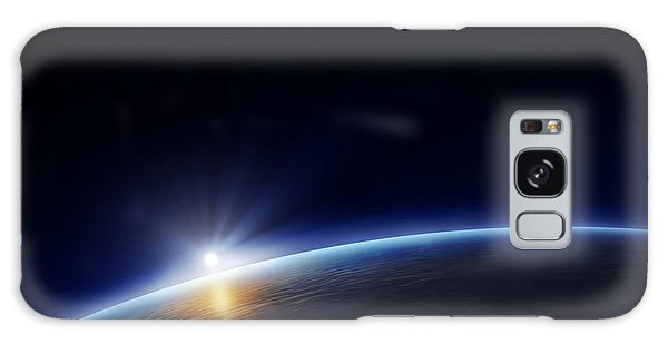 Glow Galaxy Case - Planet Earth With Rising Sun In Space by Johan Swanepoel