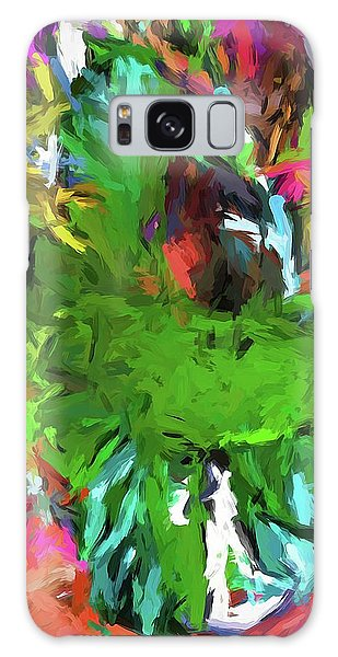 Plant With The Green And Turquoise Leaves Galaxy Case