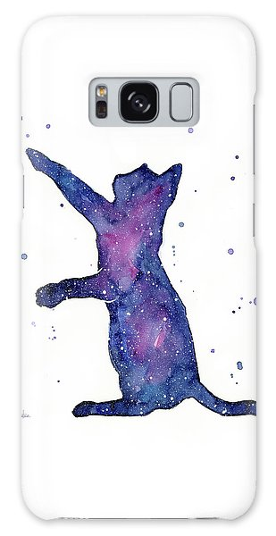 Outer Space Galaxy Case - Playful Galactic Cat by Olga Shvartsur