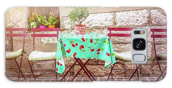 Street Cafe Galaxy Case - Please Have A Seat by Delphimages Photo Creations