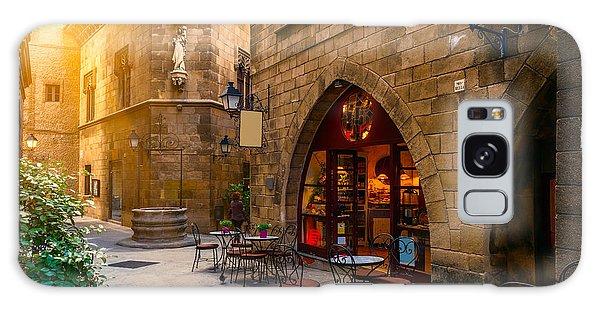 Street Cafe Galaxy Case - Poble Espanyol - Traditional by Catarina Belova