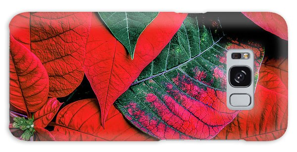 Green Leaf Galaxy Case - Poinsettia Caught In The Act by Tom Mc Nemar