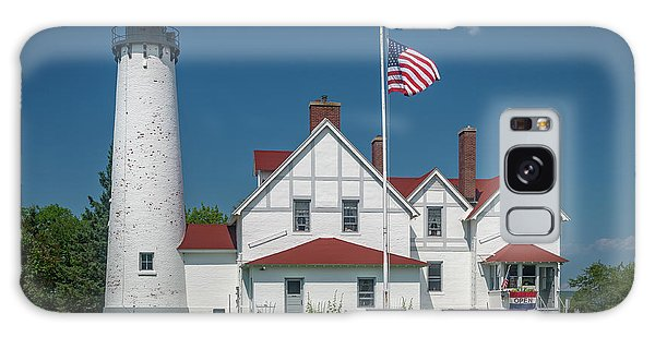 Point Iroquois Lighthouse Galaxy Case