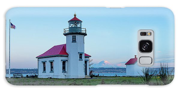 Point Robinson Lighthouse At Maury Island, Wa Galaxy Case