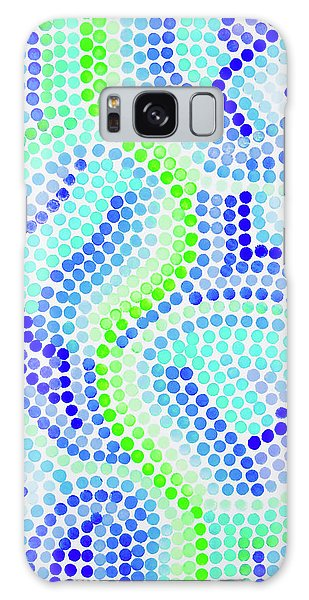 Pointillism On Half A Steroid - Blue And Green Galaxy Case