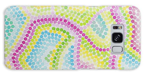 Pointillism - Palm Beach Pink And Green Galaxy Case