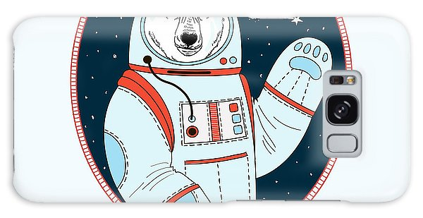 Outer Space Galaxy Case - Polar Bear Astronaut In Outer Space by Olga angelloz