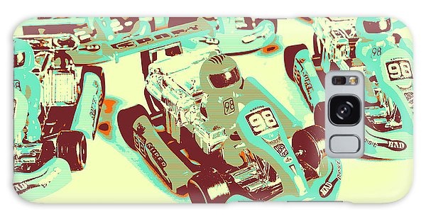 Sport Car Galaxy Case - Poll Position Posterized by Jorgo Photography - Wall Art Gallery