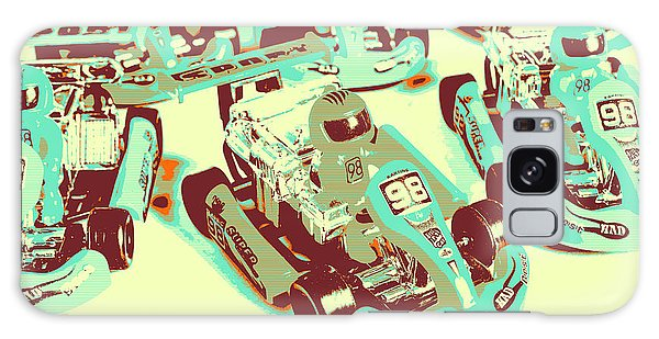 Race Galaxy Case - Poll Position Posterized by Jorgo Photography - Wall Art Gallery