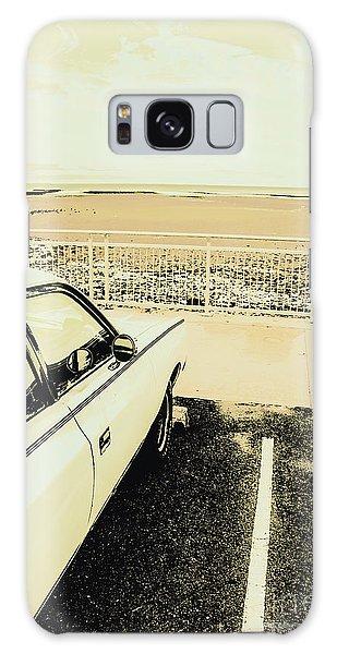 Old Car Galaxy Case - Pop Art Beach Carpark  by Jorgo Photography - Wall Art Gallery
