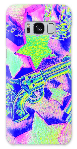 Neon Galaxy Case - Pop Art Police by Jorgo Photography - Wall Art Gallery