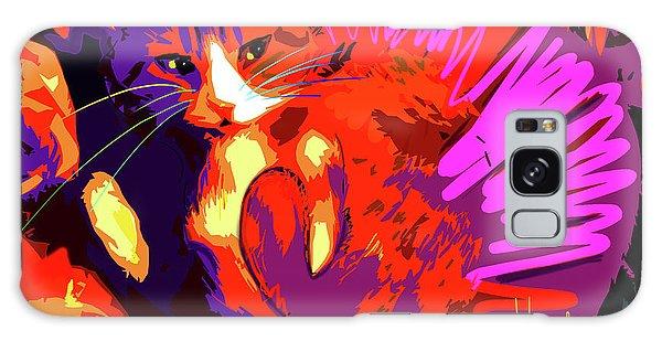 Pop Cat Tiger Galaxy Case