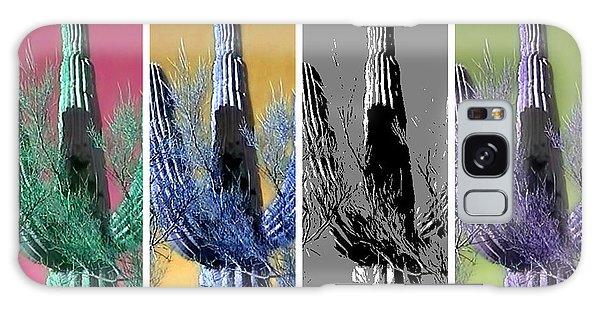 Pop Saguaro Cactus Galaxy Case