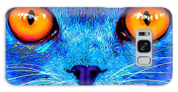 pOpCat Boe - Big Orange Eyes Galaxy Case