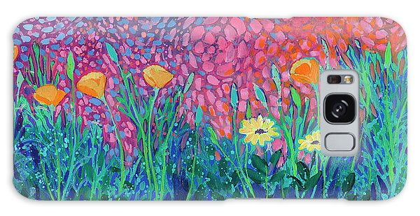 Outer Space Galaxy Case - Poppies At Twilight by Jennifer Lommers