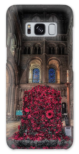 Galaxy Case featuring the photograph Poppy Display At Ely Cathedral by James Billings