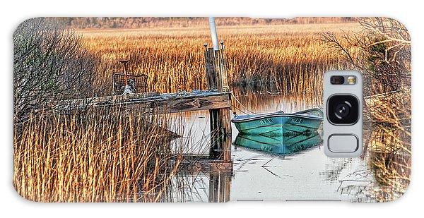 Poquoson Marsh Boat Galaxy Case