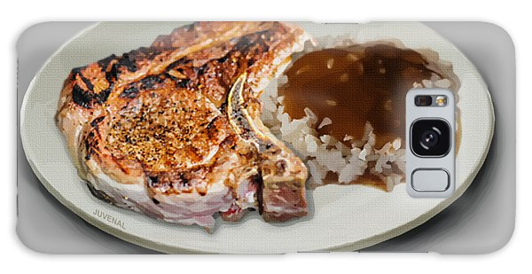 Fashion Plate Galaxy Case - Pork Chop And Rice by Joseph Juvenal