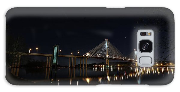 Port Mann Bridge With Blood Moon Galaxy Case