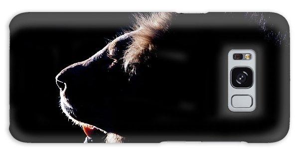 Portrait Of A Backlit Male African Lion Galaxy Case