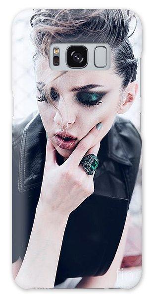 Young Galaxy Case - Portrait Of A Beautiful Brunette Girl by Yuliya Yafimik