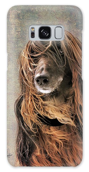 Portrait Of An Afghan Hound Galaxy Case