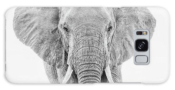 Portrait Of An African Elephant Bull In Monochrome Galaxy Case