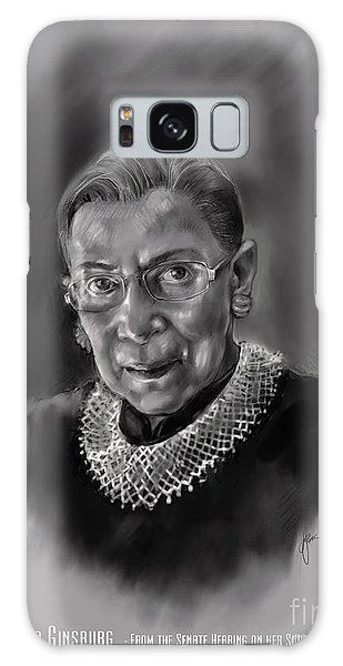 Portrait Of Ruth Bader Ginsburg Galaxy Case