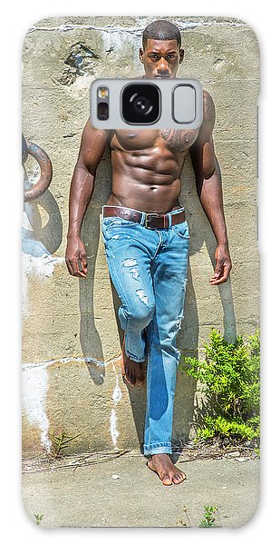 Portrait Of  Young Black Fitness Guy Galaxy Case
